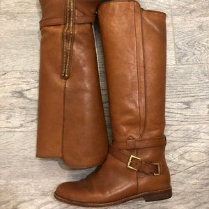 Coach over the knee boots